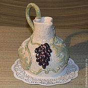 Посуда ручной работы. Ярмарка Мастеров - ручная работа Кувшин Черный виноград. Handmade.