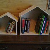 Для дома и интерьера ручной работы. Ярмарка Мастеров - ручная работа Домик-полка для книг. Handmade.