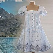 Одежда ручной работы. Ярмарка Мастеров - ручная работа Платье Холодная река. Handmade.