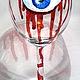 """Бокалы, стаканы ручной работы. Ярмарка Мастеров - ручная работа. Купить Бокал """"Смотрящий"""". Handmade. Глаз, краски витражные"""