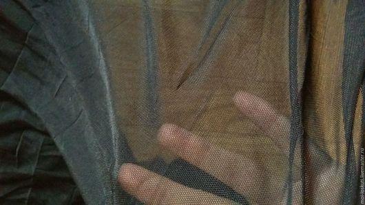 Шитье ручной работы. Ярмарка Мастеров - ручная работа. Купить Трикотажная сетка, черная, 2м. Handmade. Трикотажная ткань, отрез