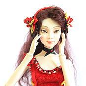 """Куклы и игрушки ручной работы. Ярмарка Мастеров - ручная работа Авторская шарнирная кукла """"Красный Мак"""". Handmade."""