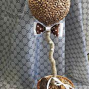 """Цветы и флористика ручной работы. Ярмарка Мастеров - ручная работа топиарий кофейный""""джентельмен"""". Handmade."""
