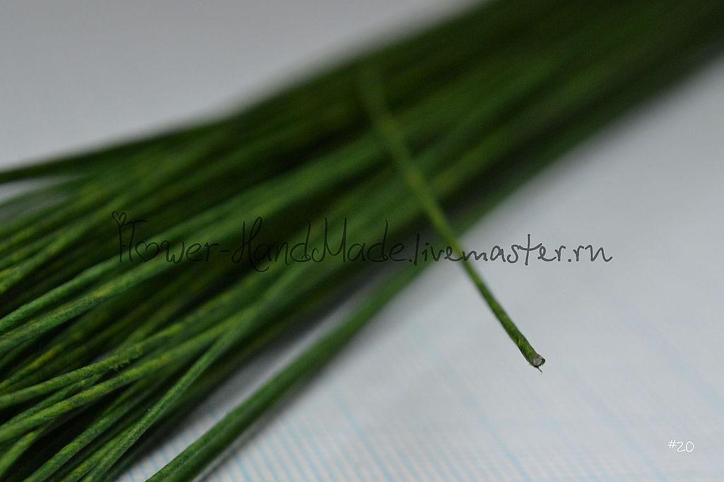 Другие виды рукоделия ручной работы. Ярмарка Мастеров - ручная работа. Купить Проволока №22 тёмно-зеленая в обмотке 35 см, 50 шт. Handmade.