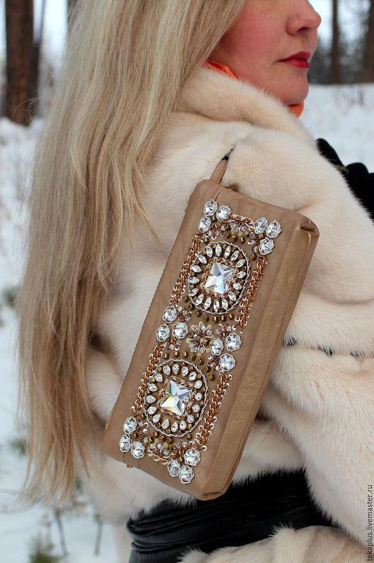 Женские сумки ручной работы. Ярмарка Мастеров - ручная работа. Купить Клатч из кожи в стиле Dolce & Gabbana. Handmade.