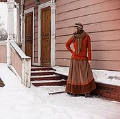 Одежда ручной работы. Ярмарка Мастеров - ручная работа Юбочка из микровельвета. Handmade.