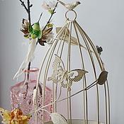 Для дома и интерьера ручной работы. Ярмарка Мастеров - ручная работа Декоративная  клетка для птиц. Handmade.