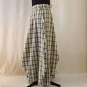 Одежда handmade. Livemaster - original item Balloon skirt, Maxi, olive cage.. Handmade.