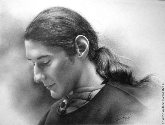"""Люди, ручной работы. Ярмарка Мастеров - ручная работа. Купить Портрет по фото в историческом стиле """"Simon"""". Handmade. Серый"""