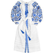 """Одежда handmade. Livemaster - original item Длинное льняное платье """"Зимние узоры"""". Handmade."""