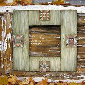 Для дома и интерьера ручной работы. Ярмарка Мастеров - ручная работа Зеркало Пэчворк. Handmade.