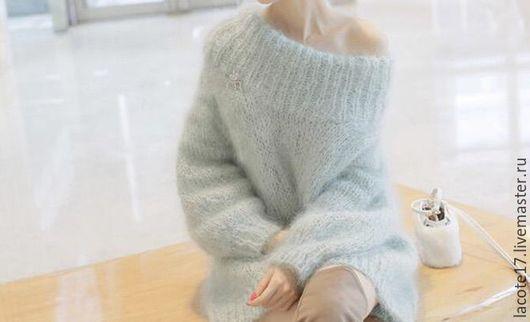 Кофты и свитера ручной работы. Ярмарка Мастеров - ручная работа. Купить Вязаный свитер. Handmade. Комбинированный, шарф, платье вязаное