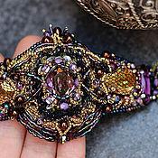 Украшения ручной работы. Ярмарка Мастеров - ручная работа браслет с кристаллами swarovski  и бисером. Handmade.