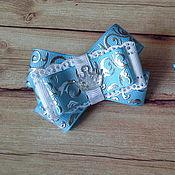 Работы для детей, handmade. Livemaster - original item Blue mini bows for babies. Handmade.