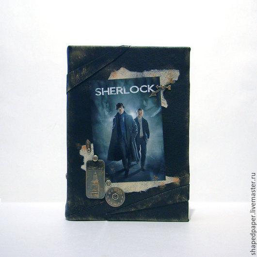 Блокноты ручной работы. Ярмарка Мастеров - ручная работа. Купить Шерлок / Sherlock, блокнот/ежедневник ручной работы.. Handmade. Коричневый