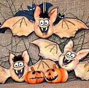 Куклы и игрушки ручной работы. Ярмарка Мастеров - ручная работа Хэллоуинские забавы интерьерная игрушка летучая мышь. Handmade.