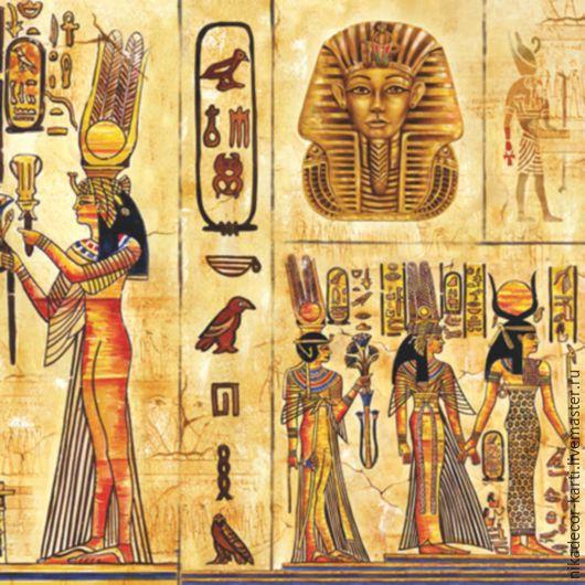 Декупаж и роспись ручной работы. Ярмарка Мастеров - ручная работа. Купить Египет 2 (SLOG015601) - салфетка для декупажа. Handmade. Разноцветный