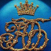 Посуда ручной работы. Ярмарка Мастеров - ручная работа Большой золотой вензель (монограмма). Handmade.