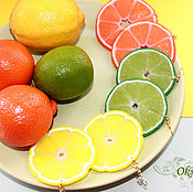 "Серьги ""Лимоны"", ""Лаймы"", ""Мандарины"", ""Апельсины"""