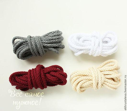 Шитье ручной работы. Ярмарка Мастеров - ручная работа. Купить Хлопковый шнур, 4 цвета,  5 мм. Handmade. Бежевый
