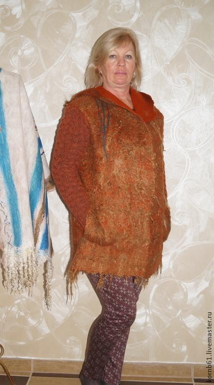 """Верхняя одежда ручной работы. Ярмарка Мастеров - ручная работа. Купить Валяная Куртка """" Чино"""". Handmade. Рыжий"""