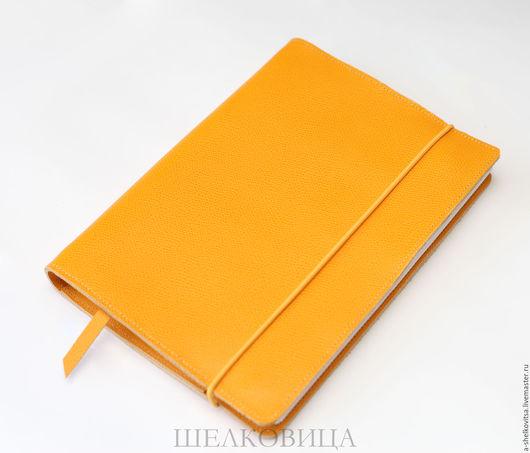 Блокноты ручной работы. Ярмарка Мастеров - ручная работа. Купить Блокнот-Органайзер на кольцах А5. Handmade. Желтый, блокнот для эскизов