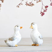 Для дома и интерьера handmade. Livemaster - original item Pair of ducklings figurines Provence Sebik Country figurines for your home. Handmade.