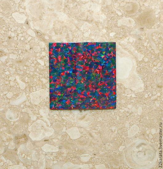 Для украшений ручной работы. Ярмарка Мастеров - ручная работа. Купить Опал пластина синтетический, сине-малиновый 20,5 х 20,5. Handmade.