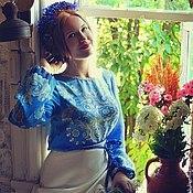 Одежда ручной работы. Ярмарка Мастеров - ручная работа В гостях у сказки. Батик платье. Handmade.