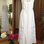 Одежда handmade. Livemaster - original item Linen embroidered sundress