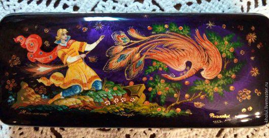 Футляры, очечники ручной работы. Ярмарка Мастеров - ручная работа. Купить Жар -птица.Расписной очечник. Handmade. Рисунок