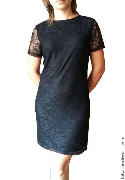 Платья ручной работы. Ярмарка Мастеров - ручная работа. Купить Маленькое черное платье. Handmade. Черный, гипюр, гипюр стрейч