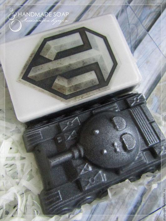 """Подарочные наборы косметики ручной работы. Ярмарка Мастеров - ручная работа. Купить Подарочный набор """"World of tanks"""" №2, мыло ручной работы. Handmade."""