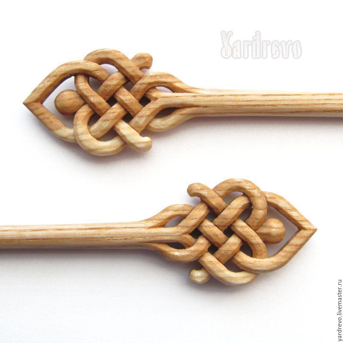 Заколки ручной работы. Ярмарка Мастеров - ручная работа. Купить Шпильки из дерева резные(Ясень). Handmade. Новый Год, шпильки, палочки