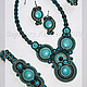 Necklaces & Beads handmade. Livemaster - handmade. Buy set Abstraction.Soutache, czech beads
