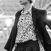 Одежда ручной работы. Ярмарка Мастеров - ручная работа Рубашка женская из шелка - АМБУАТЕ. Handmade.