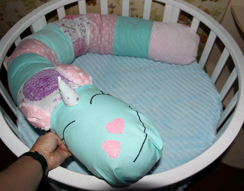 Бортик валик, можно использовать как подушку для беременных, Бортики в кроватку, Углич,  Фото №1