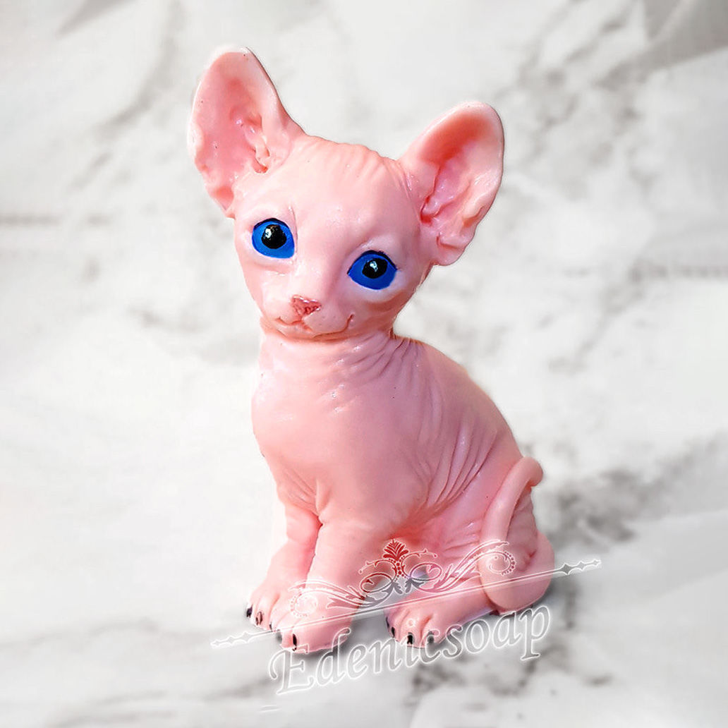 'Sphinx kitten' handmade soap gift pink, Soap, Moscow,  Фото №1