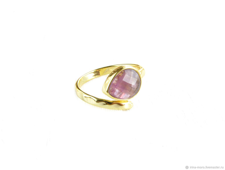 Золотое кольцо с аметистом,кольцо с аметистом,кольцо аметист, Кольца, Москва,  Фото №1