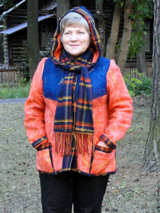 """Верхняя одежда ручной работы. Ярмарка Мастеров - ручная работа. Купить Куртка валяная """" Осенняя рапсодия"""". Handmade. Комбинированный"""