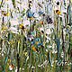 Oil painting with small white daisies in a field. Pictures. Zabaikalie. My Livemaster. Фото №4