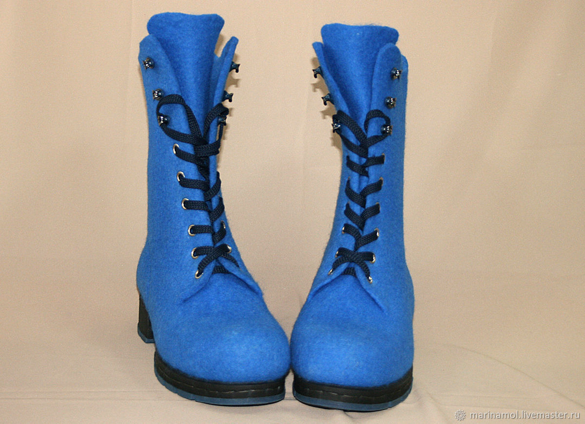 Womens felted shoes 'Sky blue', Boots, Miass,  Фото №1