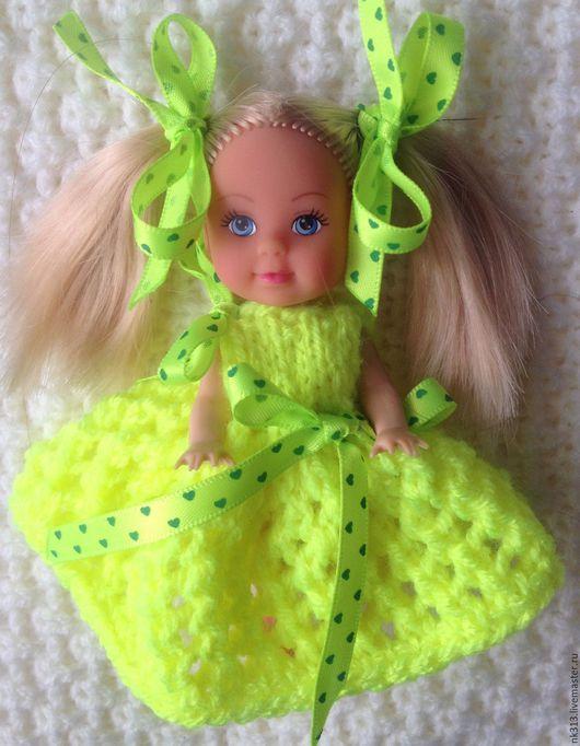 Одежда для кукол ручной работы. Ярмарка Мастеров - ручная работа. Купить Платье для куколки. Handmade. Лимонный, для кукол, игрушка