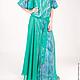 Платье `Голубые паруса` макси 11121