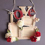 Сувениры и подарки ручной работы. Ярмарка Мастеров - ручная работа Фоторамка на 3 фотографии. Handmade.