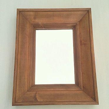 Для дома и интерьера ручной работы. Ярмарка Мастеров - ручная работа Зеркало в массивной деревянной раме, любые размеры.. Handmade.