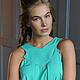 Платья ручной работы. Ярмарка Мастеров - ручная работа. Купить Платье. Handmade. Мятный, море, голубой цвет