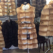 Fur Coats handmade. Livemaster - original item fur vest Fox. Handmade.