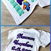 Футболка ручной работы. Ярмарка Мастеров - ручная работа Футболка с именем на день рождение. Handmade.