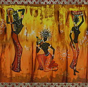 """Картины и панно ручной работы. Ярмарка Мастеров - ручная работа """"Африканский стиль """" Диптих. Handmade."""